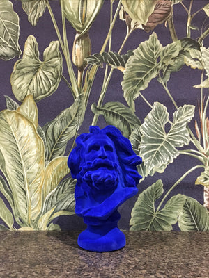 Fabulous Mini Flocked Marseillaise Bust - Blue