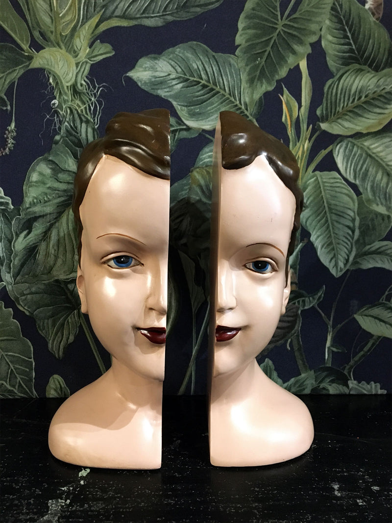 Split Head Deco Book Ends