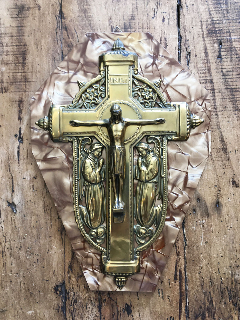 Vintage Crucifix Plaque