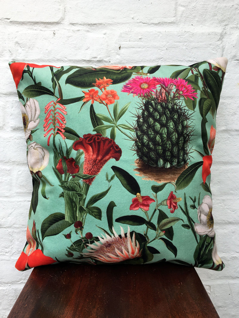 Velvet Botanical Cushion