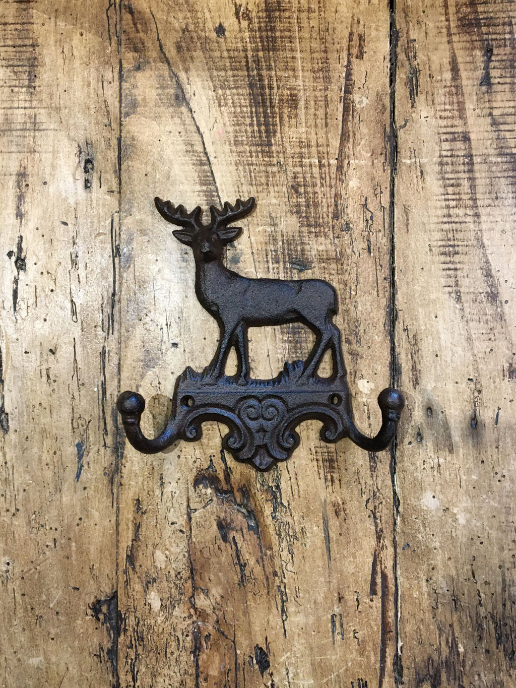 Cast Iron Stag Double Coat Hook
