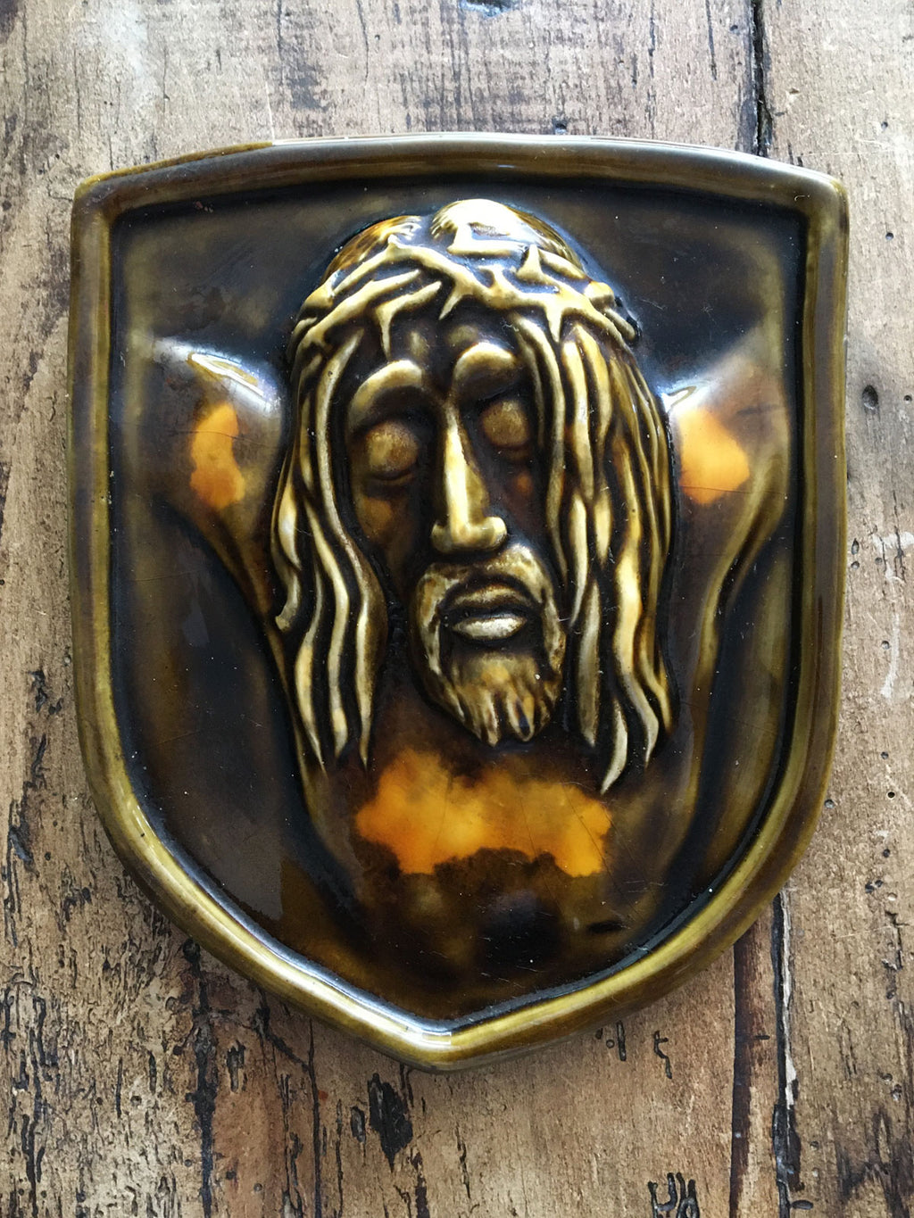 Vintage Ceramic Jesus Plaque