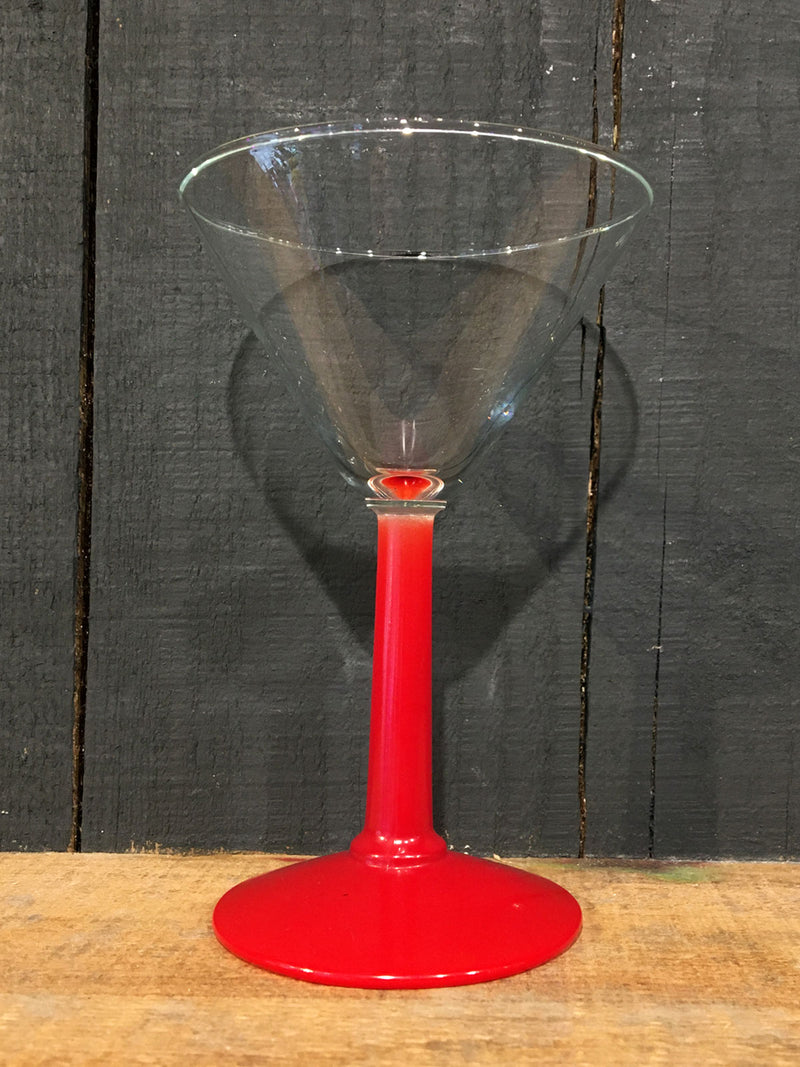 Vintage Panache Cocktail Red Stem Glass