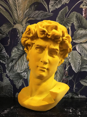 Fabulous Flocked David Bust - Yellow