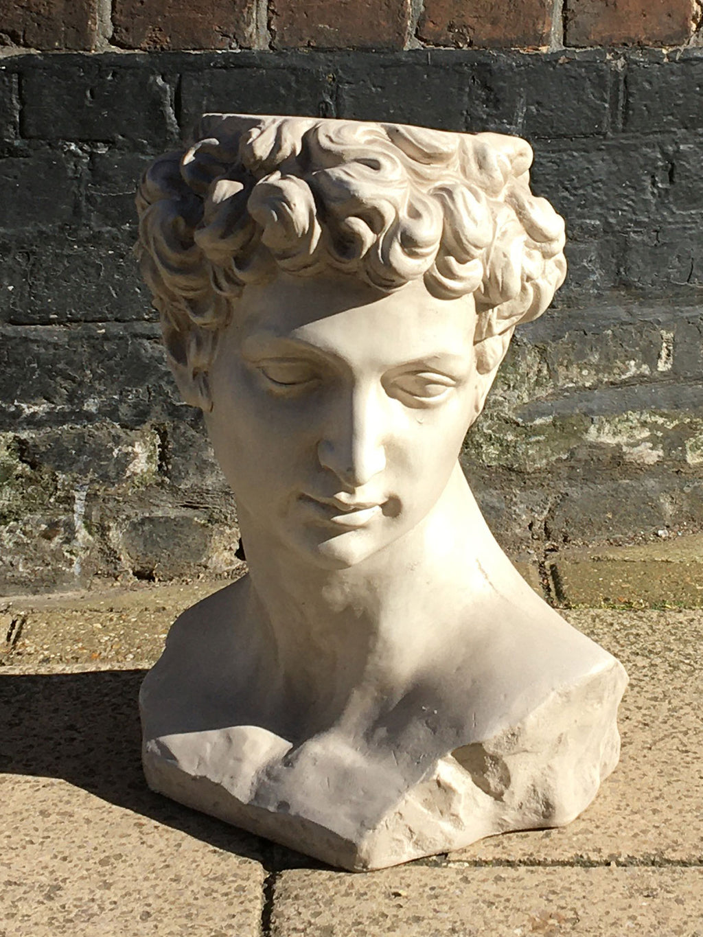 David Greek Bust Planter