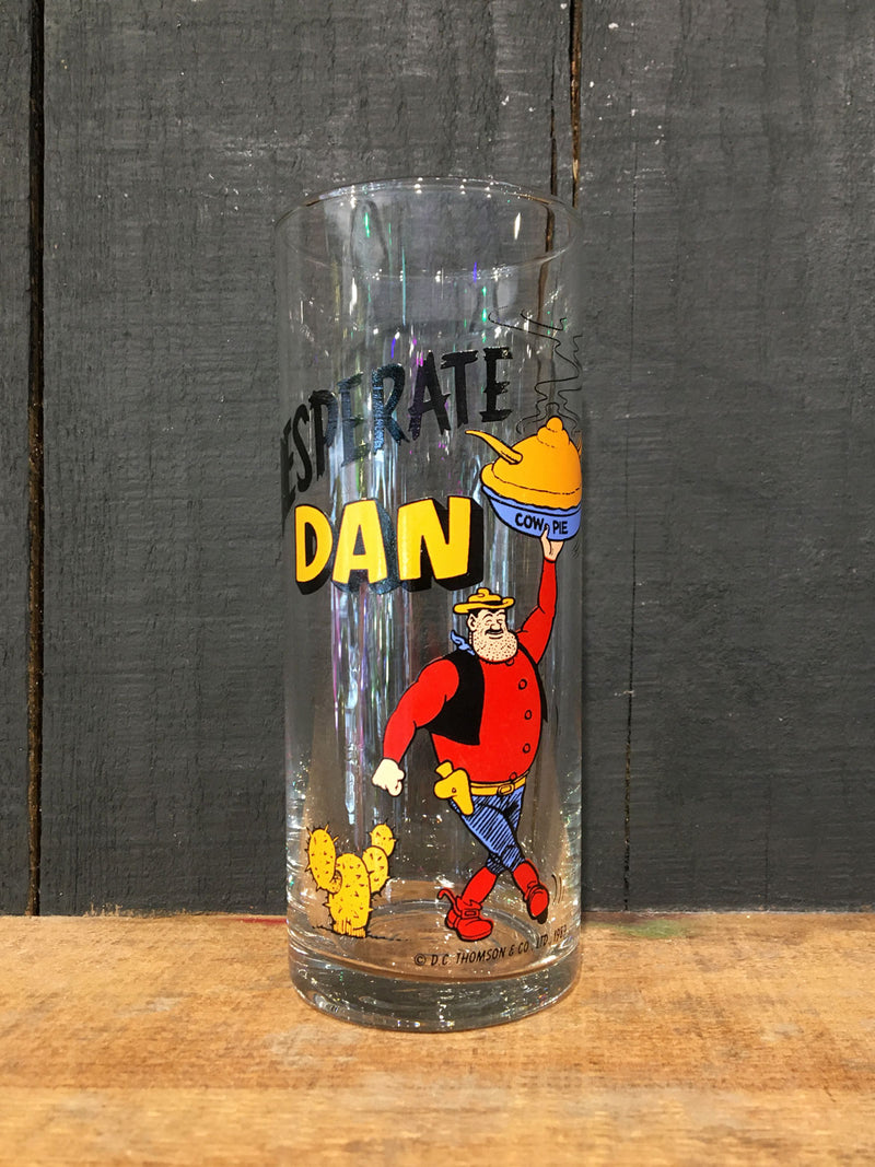 Vintage Coloroll Desperate Dan Hi-Ball Glass