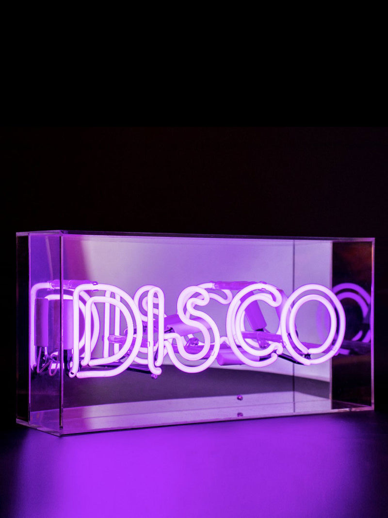 'Disco' Acrylic Neon Light Box
