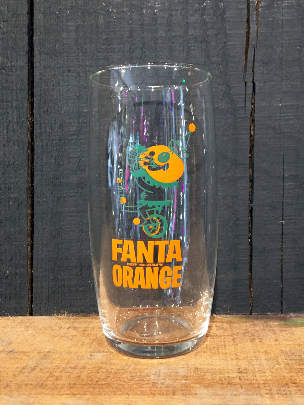Vintage Fanta Orange Tumbler Glass