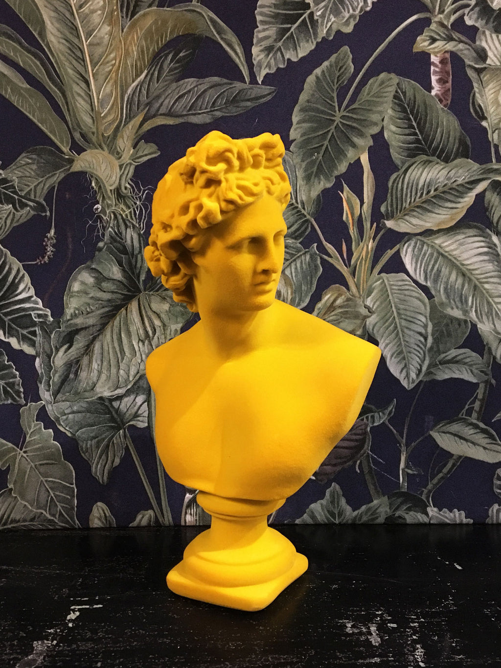 Fabulous Flocked Apollo Bust - Yellow