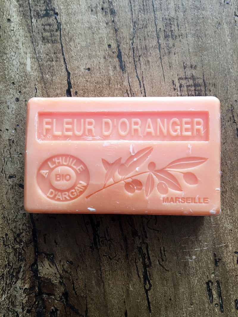 Savon de Marseille Argan Oil French Soap Fleur D'Oranger