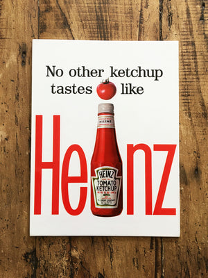Heinz Vintage French Advertising Sign - Ketchup
