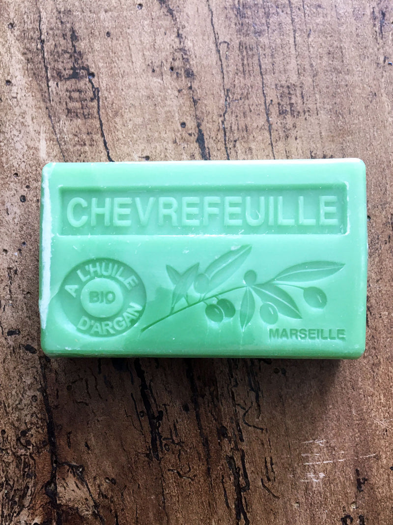 Savon de Marseille Argan Oil French Soap Honeysuckle