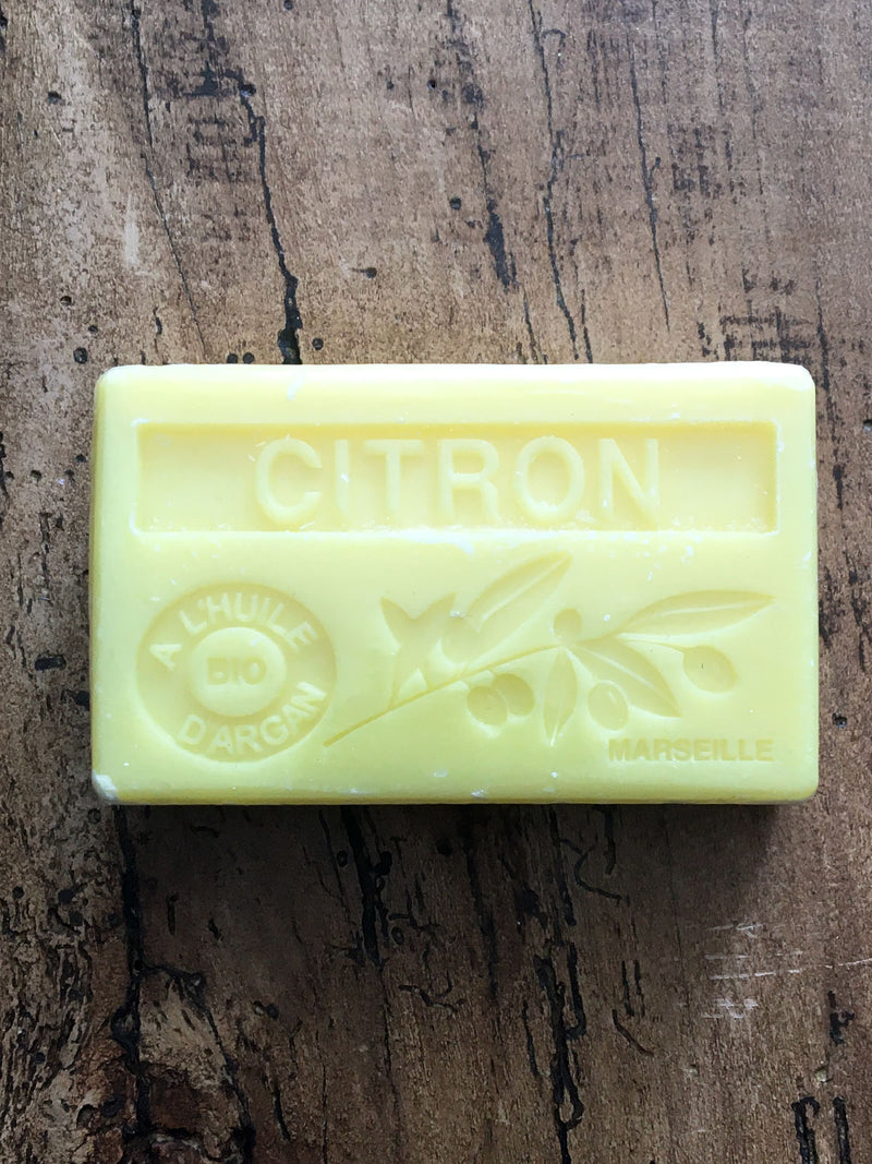 Savon de Marseille Argan Oil French Soap Citron