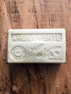 Savon de Marseille Argan Oil French Soap Argile Vert