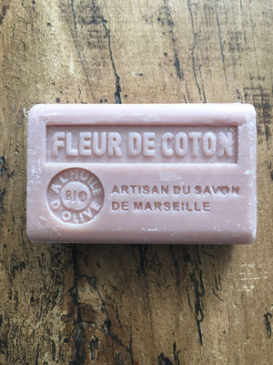 Savon de Marseille French Soap Cotton Flower