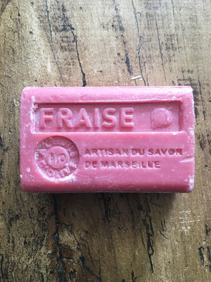 Savon de Marseille French Soap Fraise