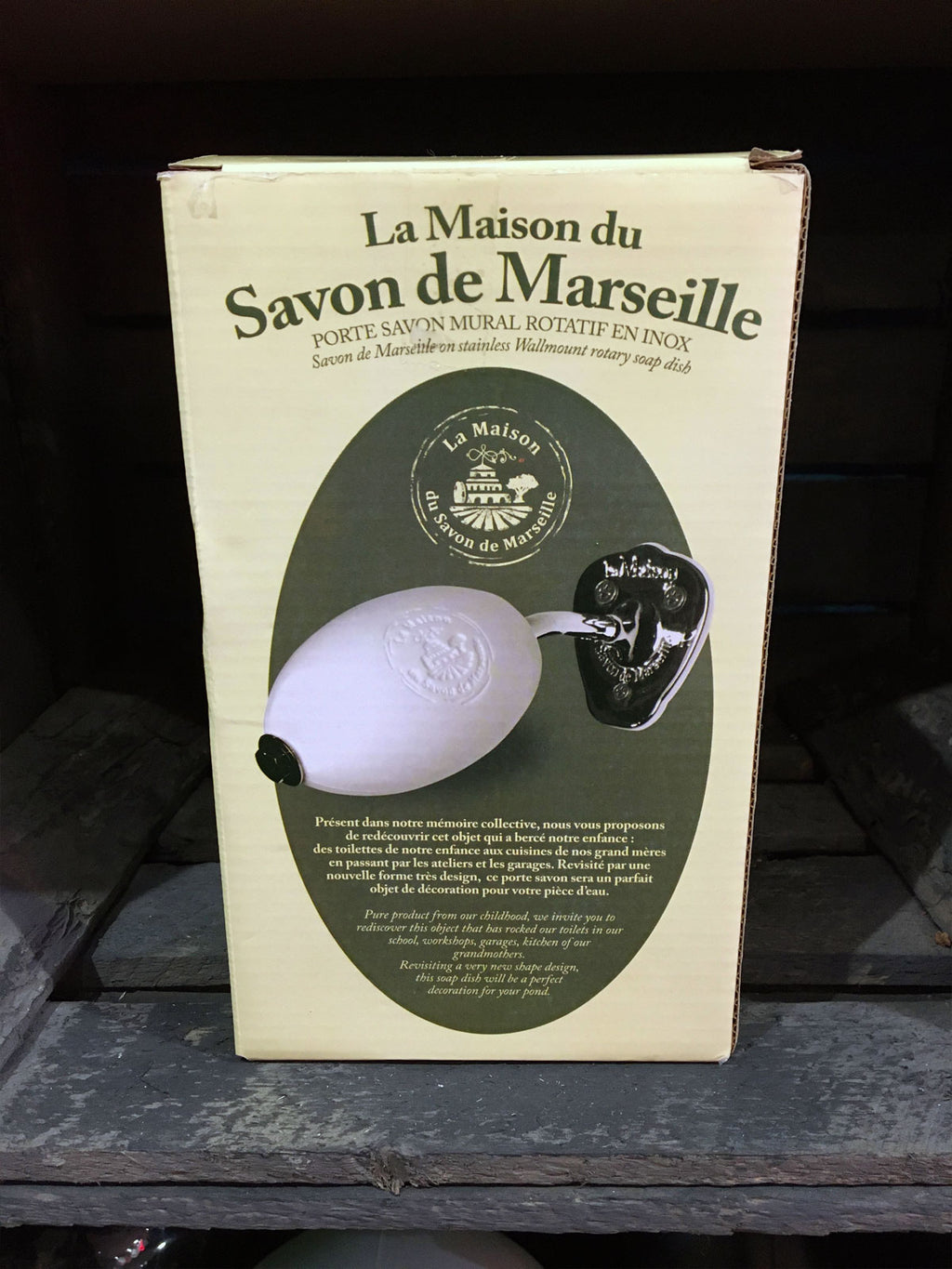French Wall Mounted Soap Holder + Soap