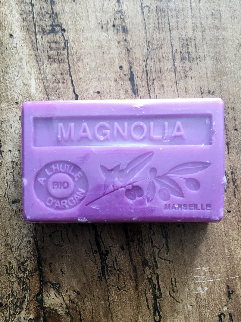 Savon de Marseille Argan Oil French Soap Magnolia