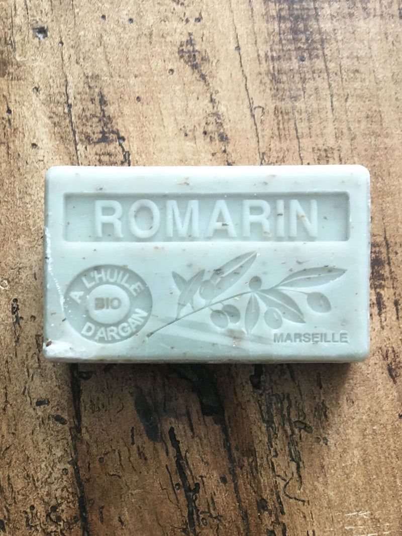 Savon de Marseille Argan Oil French Soap Rosemary