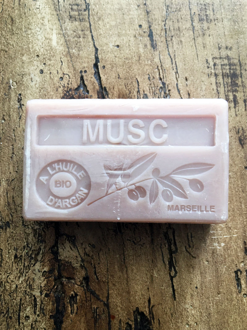 Savon de Marseille Argan Oil French Soap Musk