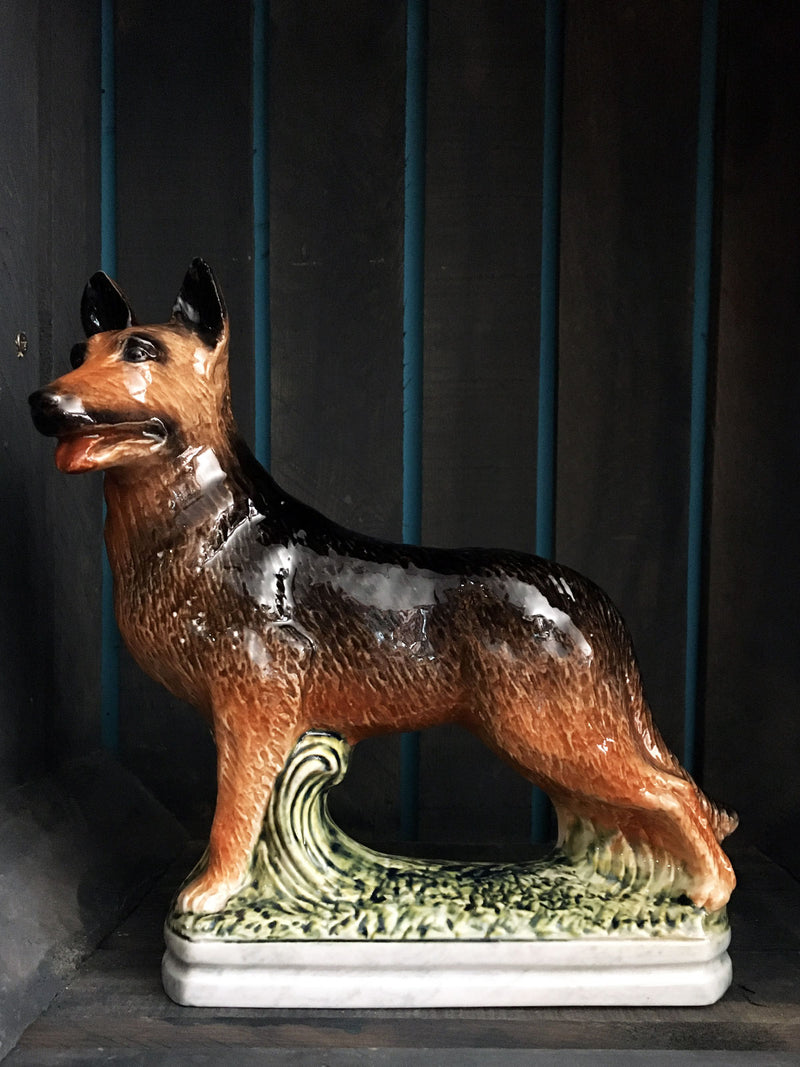 Vintage Garnier Liqueur German Shepherd Decanter