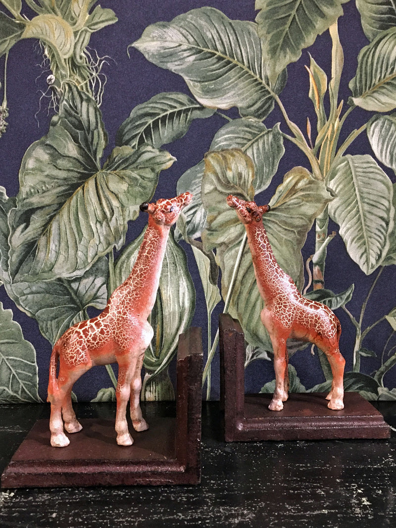 Cast Iron Giraffe Book Ends