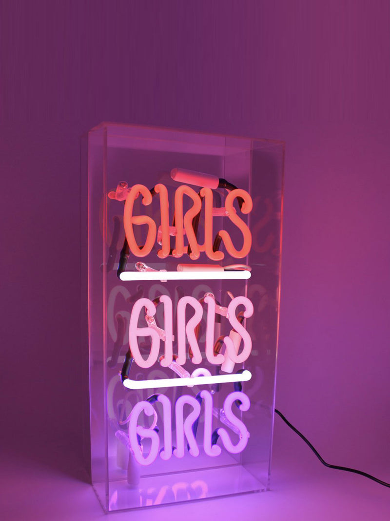 'Girls Girls Girls' Acrylic Neon Light Box