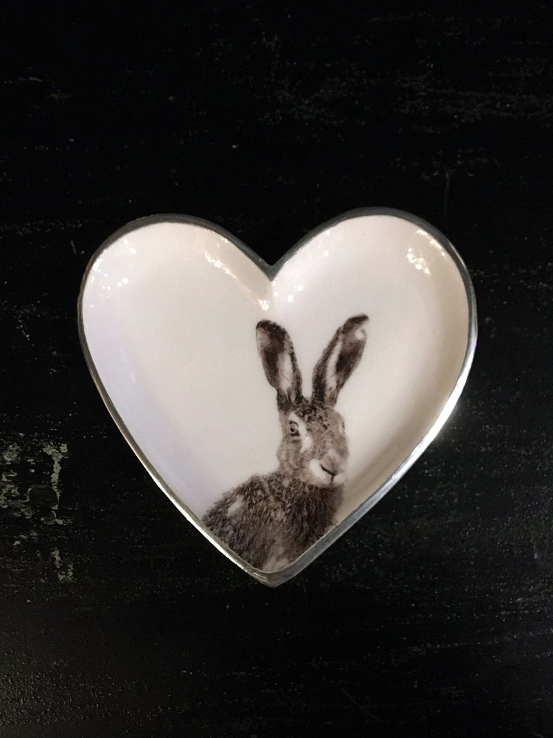 Hare Heart Shaped Dish