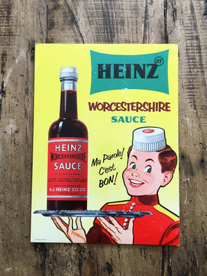 Heinz Vintage French Advertising Sign - Worcestershire