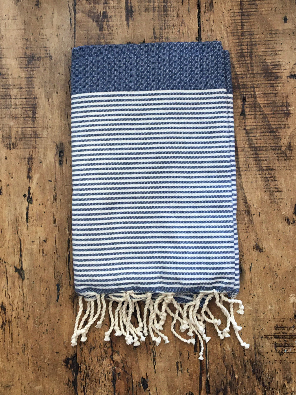 Honeycomb Weave Fouta Navy
