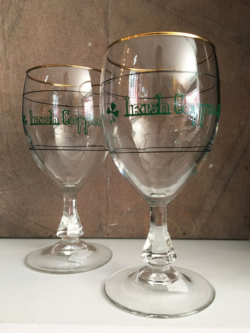 Vintage Irish Coffee Glasses