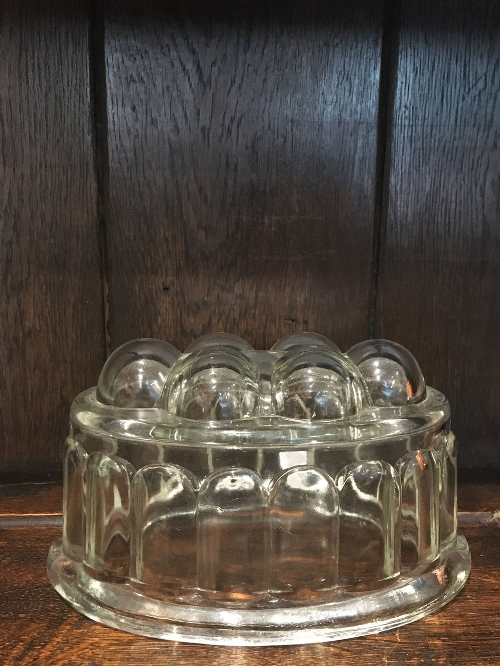 Traditional Glass Jelly Mould Large