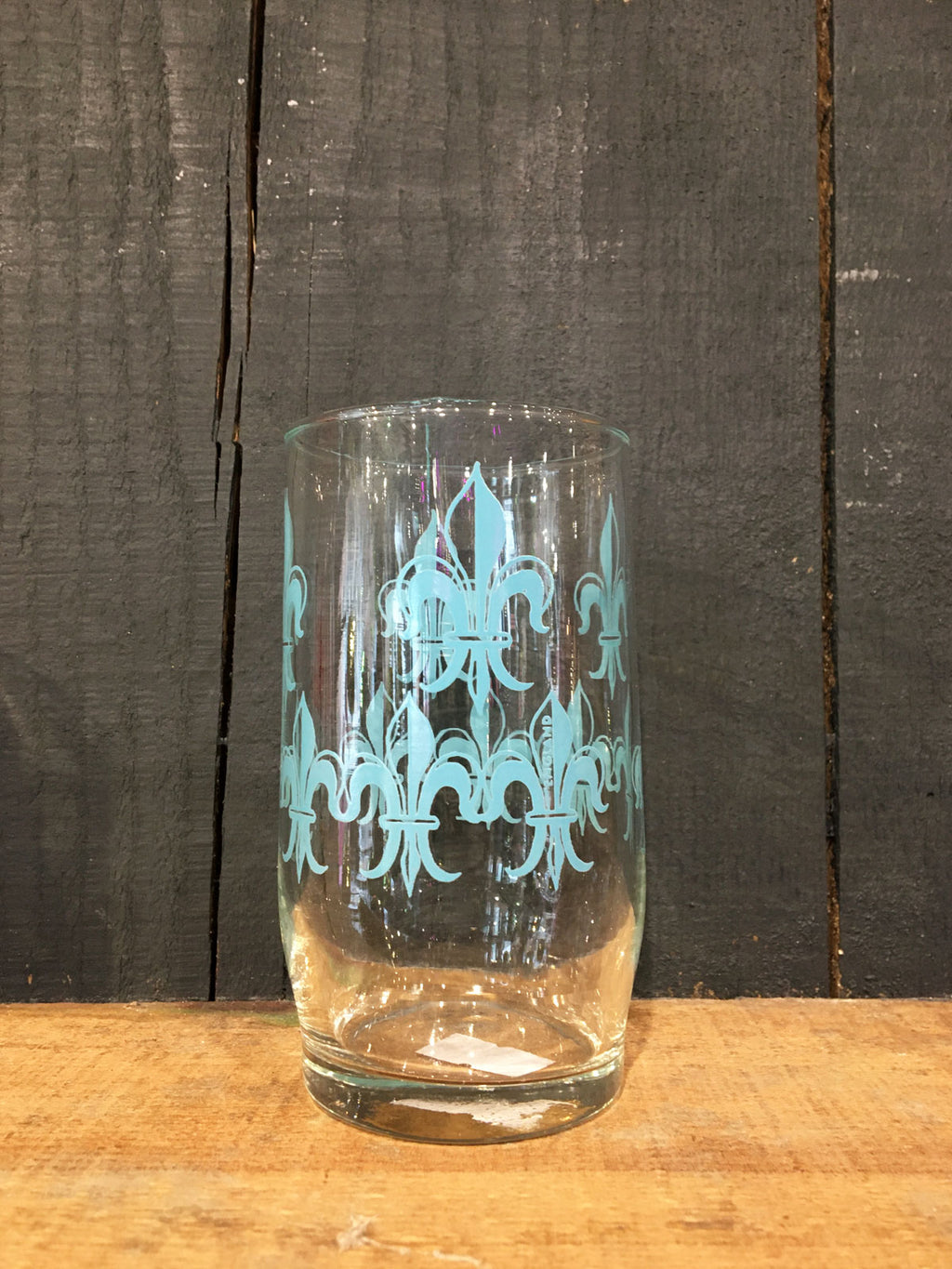Vintage Blue print Tumbler Glass
