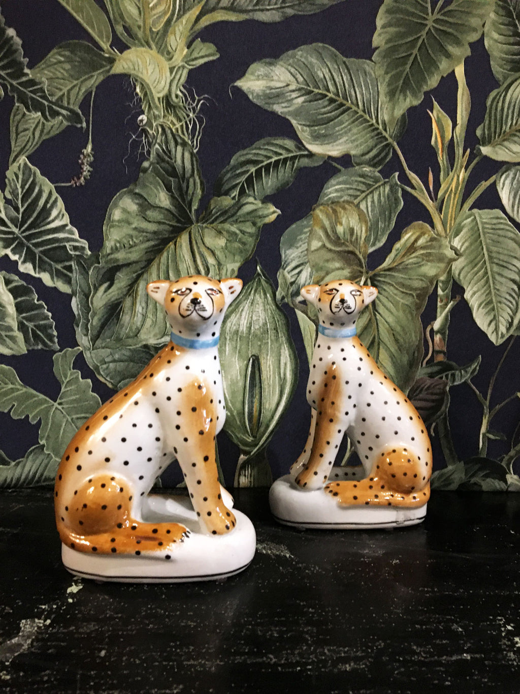 Leopard Decorative Figurines - Pair