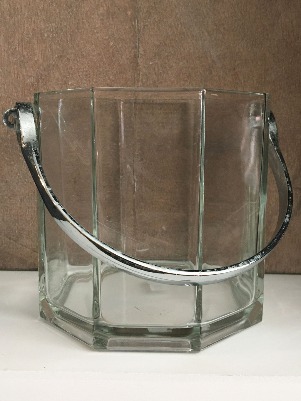 Vintage Octime Glass Ice Bucket