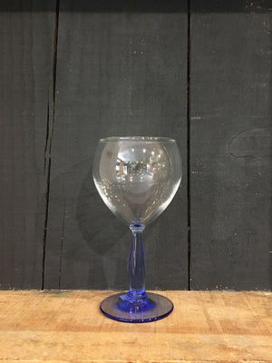 Pale Blue Stem Wine Small Glass