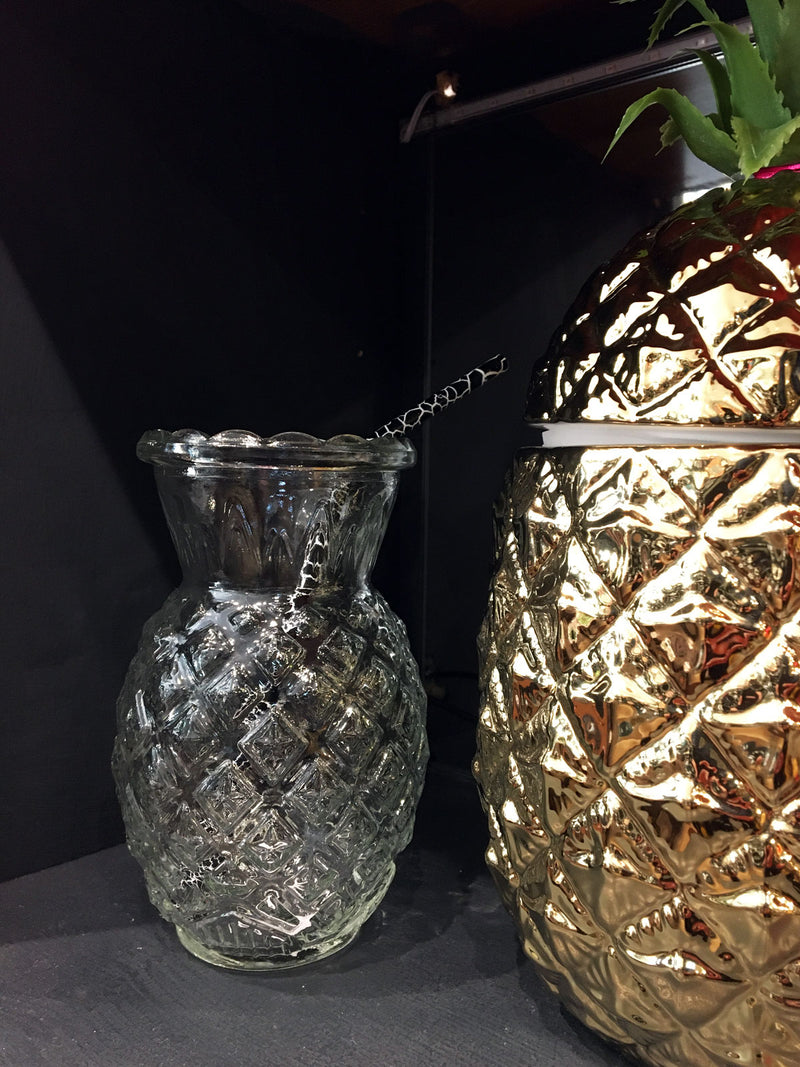 Pineapple Shaped Glass - Clear