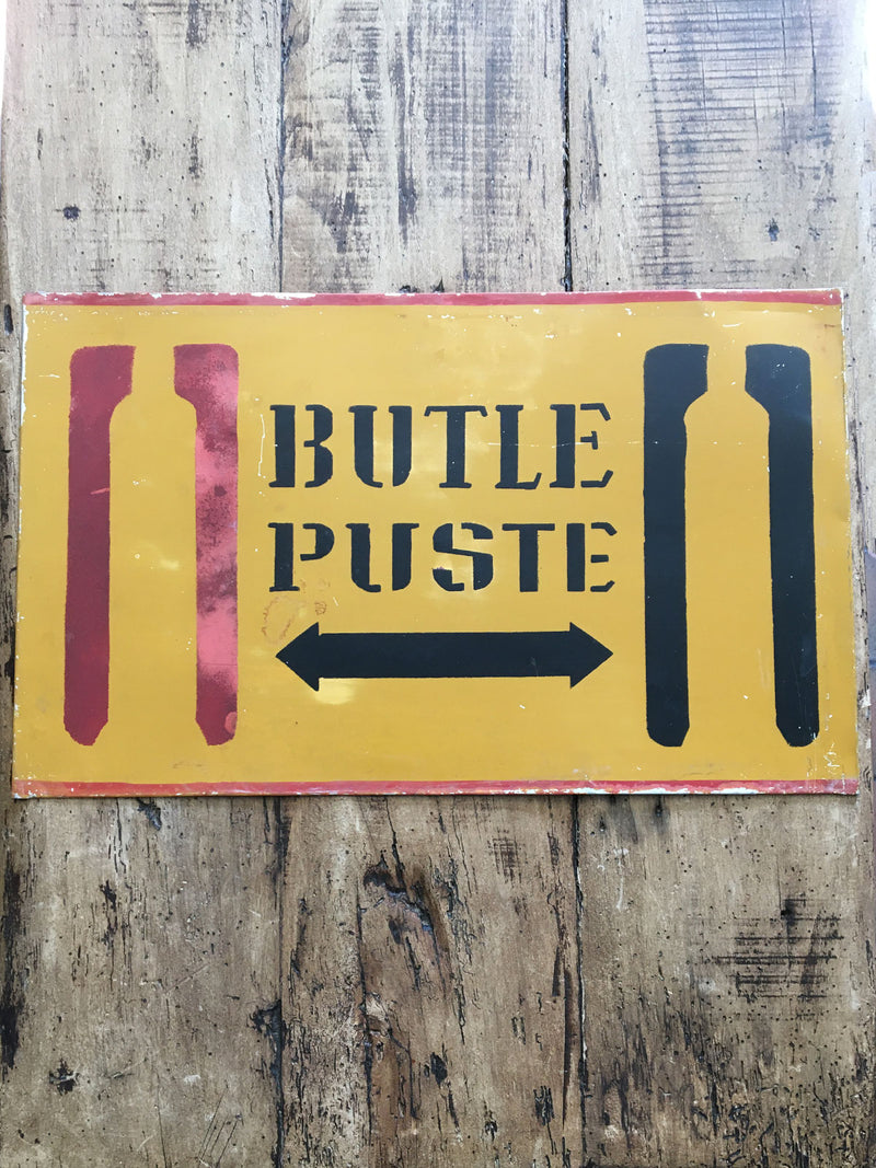 Vintage Polish Factory Metal Sign - Puste