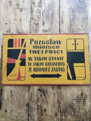 Vintage Polish Factory Metal Sign - Zastag