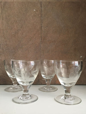 Vintage Set of 4 French Aperitif Glasses