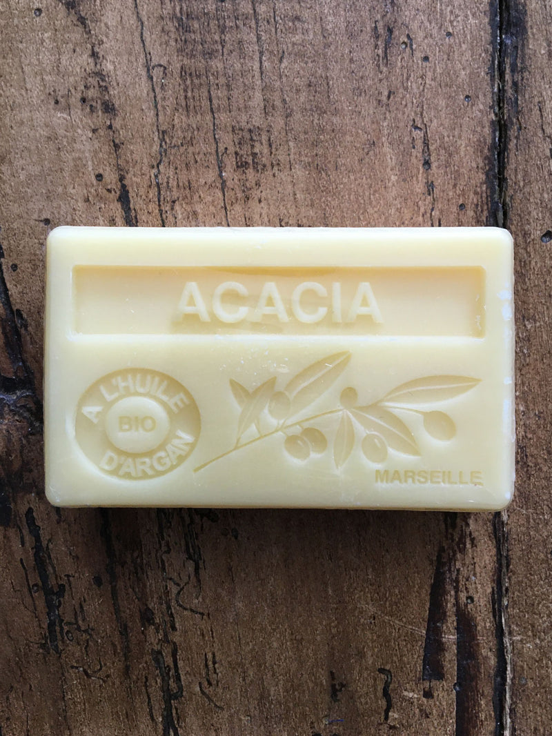 Savon de Marseille Argan Oil French Soap Acacia
