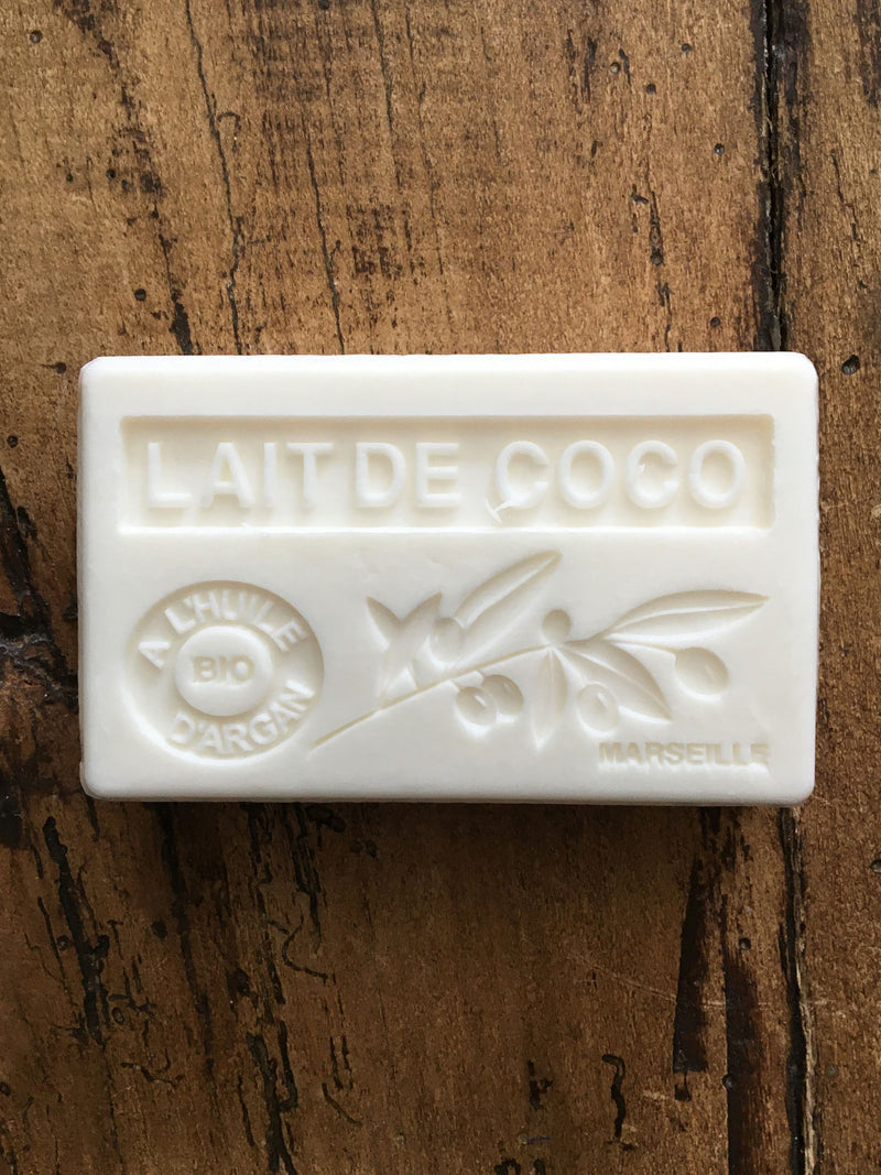 Savon de Marseille Argan Oil French Soap Lait De Coco