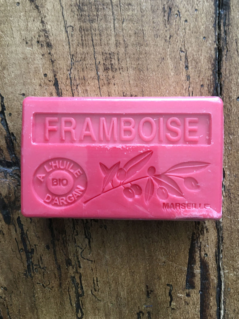 Savon de Marseille Argan Oil French Soap Raspberry