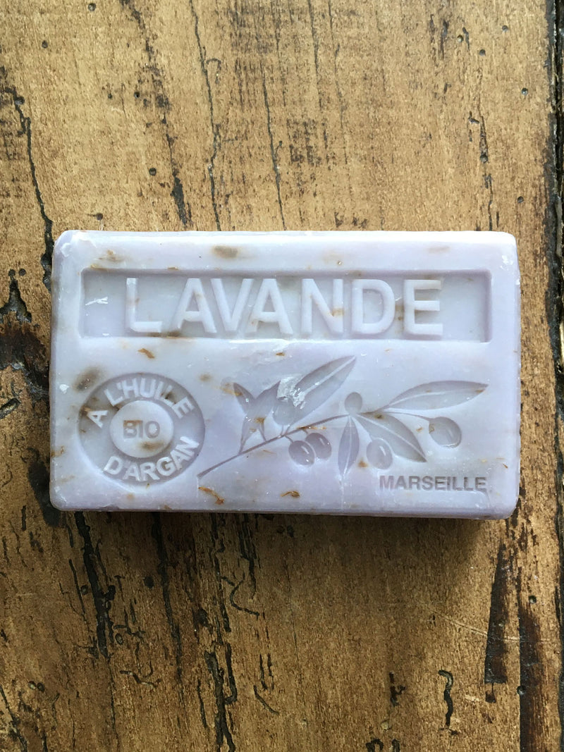 Savon de Marseille Argan Oil French Soap Lavender Flower