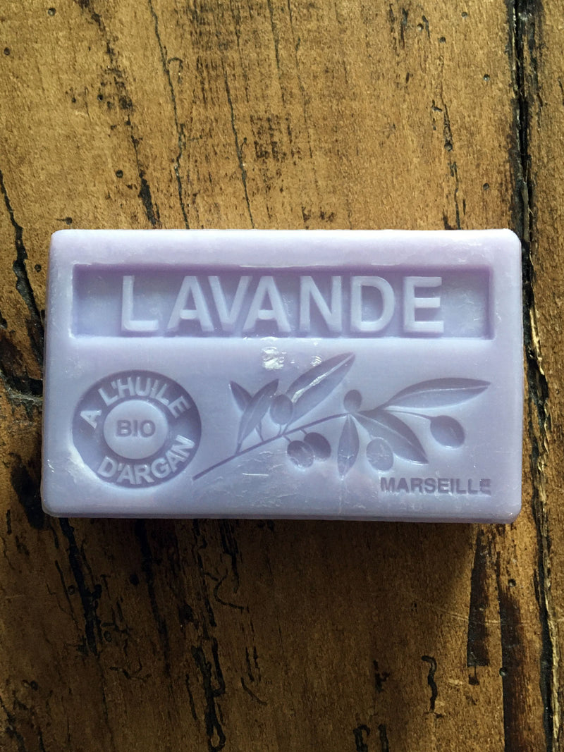 Savon de Marseille Argan Oil French Soap Lavender