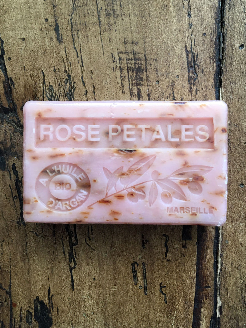 Savon de Marseille Argan Oil French Soap Rose Petals