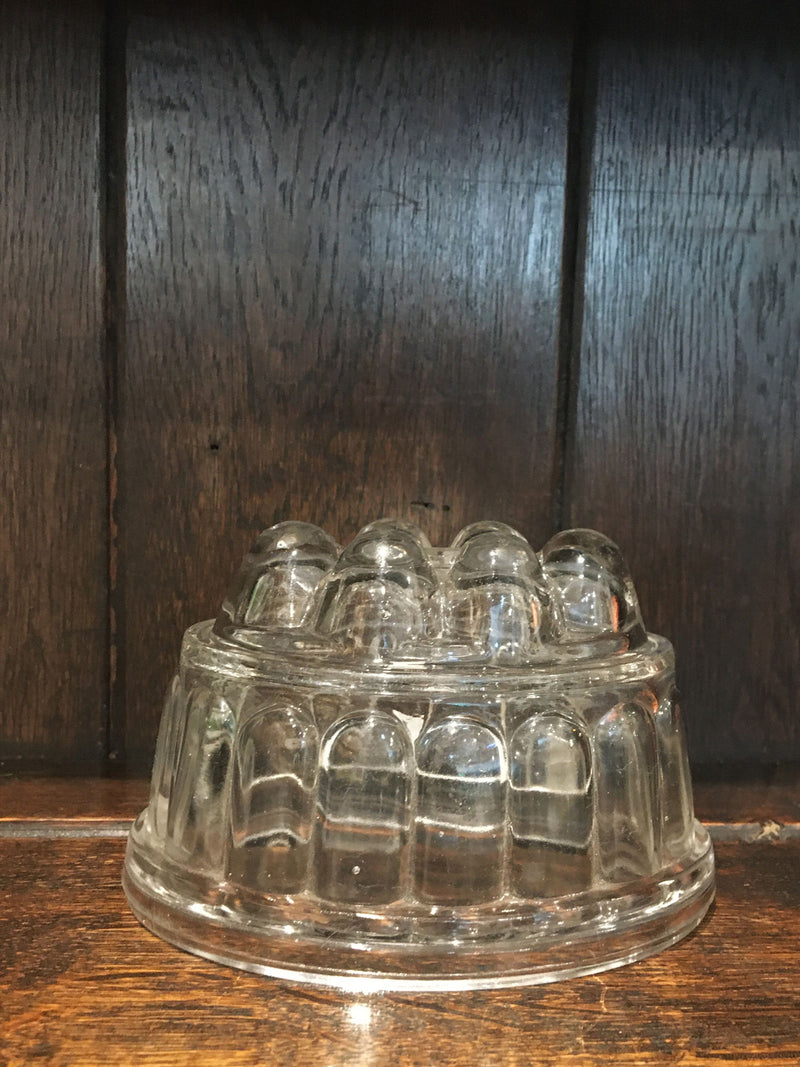 Traditional Glass Jelly Mould Small
