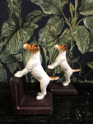 Cast Iron Terrier Dog Book Ends