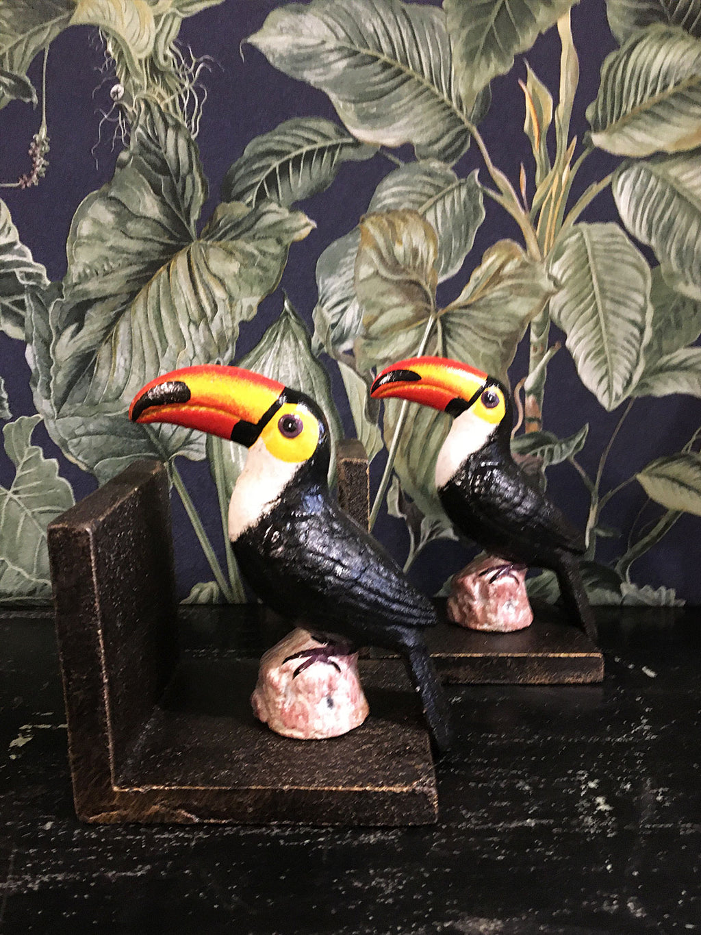 Cast Iron Toucan Book Ends