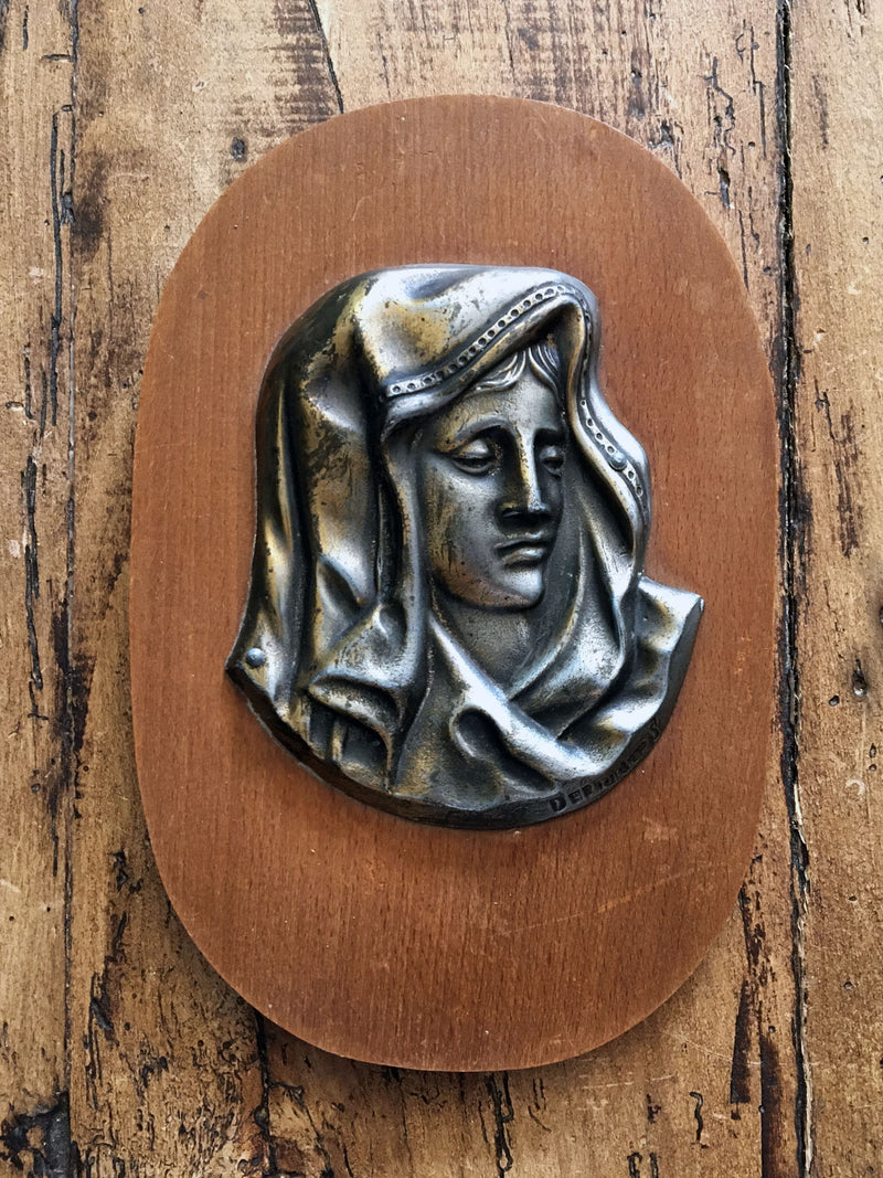 Vintage French Religious Plaque